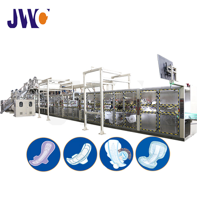 Full Servo Puerperium Sanitary Napkin And Three-dimensional Protective Diaper Machine